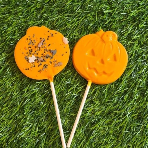 Halloween pumpkin chocolate lolly